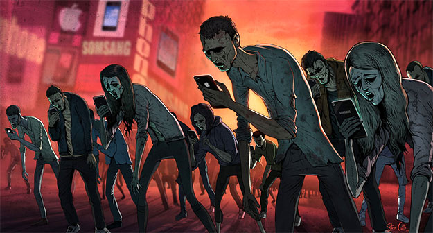 Zombie image by Steve Cutts